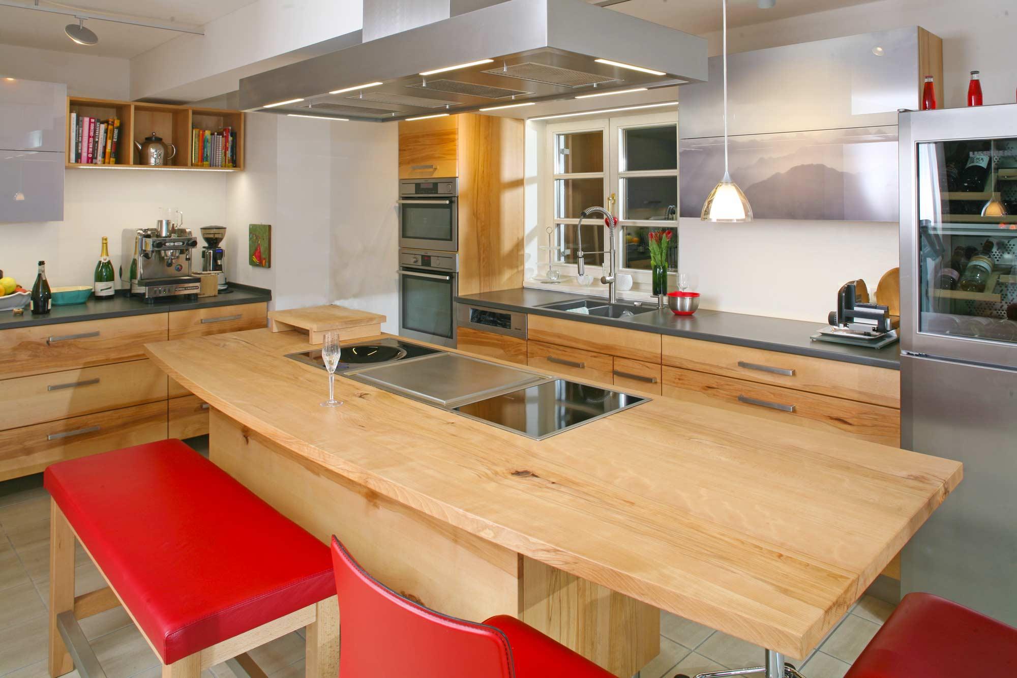 Massivholzküche in Buche im Allgäu