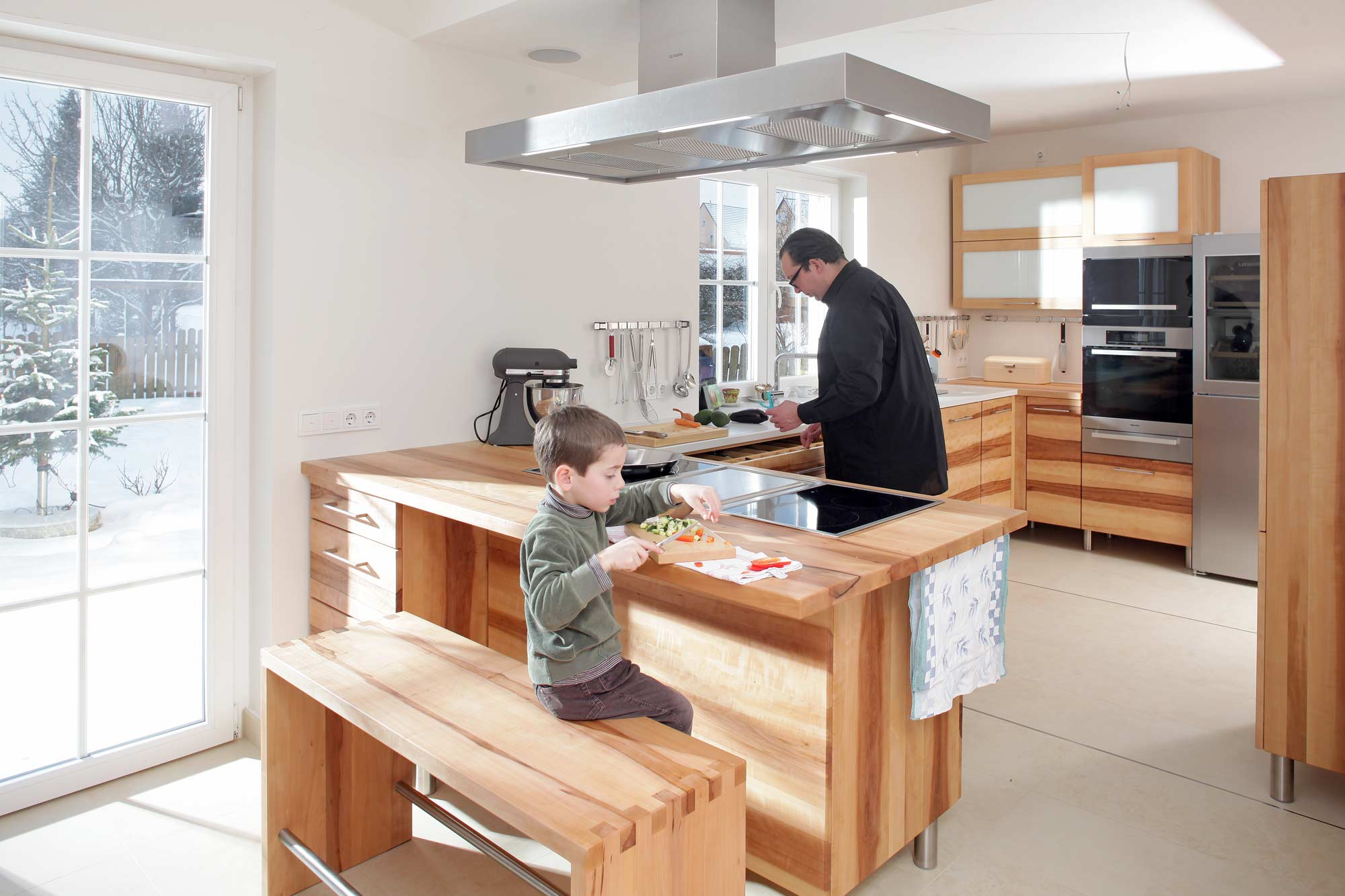 MAssivholzküche aus Elsbeere