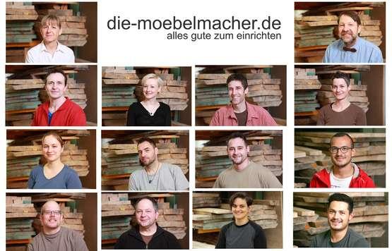 Das Team der Möbelmacher aus Unterkrumbach neben Hersbruck im Nürnberger Land
